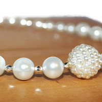 Beaded Pearl Necklace, Bridal Necklace, Jewelry For Wedding, Necklace For Wedding