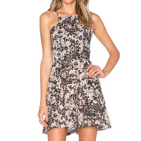 J.O.A. Floral Scattered Dress in Tan