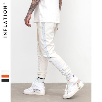 Striped Reflective Pant Mens Hip Hop Casual Joggers Sweatpants Trousers Male Street Fashion Mens Trousers