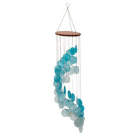 Astounding Capize Round Teal Wind Chime By Benzara