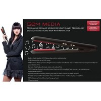Gem Media Digital Flat Iron w/ Built-in MP3 Player