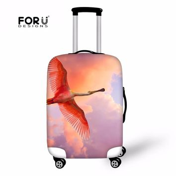 FORUDESIGNS Flamingo Print Luggage Protective Cover For Travel Suitcase Trunk Animal Elastic Fresh Cover Travel Accessories New