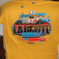 Bobby Labonte #43 Cheerios Dodge Charger on a new Yellow extra large (XL) short