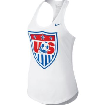 Nike Women's USA Soccer Core Crest White Tank Top | DICK'S Sporting Goods