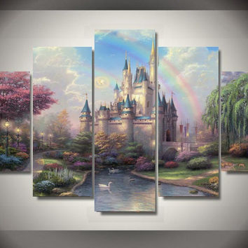 Magical Castle Fairyland 5-Piece Wall Art Canvas
