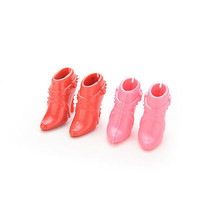 10 Pairs Party Doll's Shoes Short Boots For Barbie Doll Best Color Random 3C#