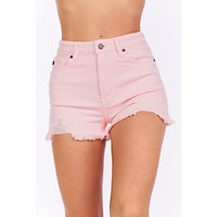 Lead Me On Distressed KanCan Shorts (Pink)