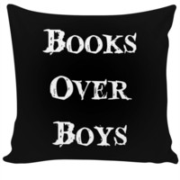 Books Over Boys Pillow