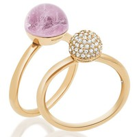 Michael Kors Pavé & Amethyst Stacked Ring Set | Dillards