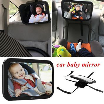 VETOMILE Baby Car Mirror for Backseat Car Rear Facing View Newborn Safety Double Straps with Cleaning Cloth