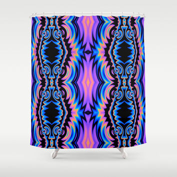 Psychedelic Tribe Shower Curtain by Lyle Hatch | Society6