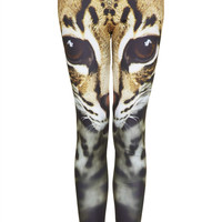 Cat Face Leggings - Topshop USA