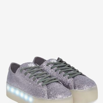POP Shoes Drummond Glitter Platform Sneaker