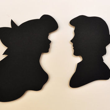 The Little Mermaid Silhouettes by italsma on Etsy