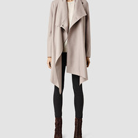Womens City Monument Coat (Taupe) | ALLSAINTS.com
