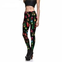 Christmas Ornaments Printed Leggings