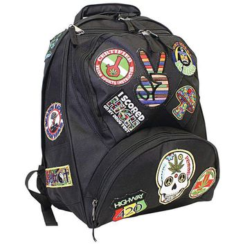 "17"" Hippie Backpack with 15 Patches"