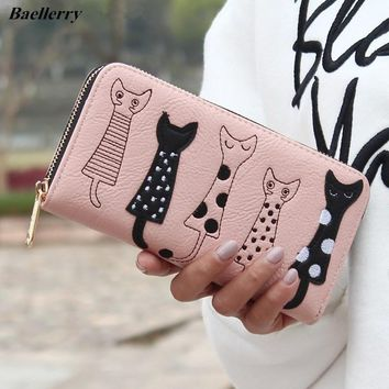 Baellerry Women Wallets Modern Cat Pattern Ladies Purse Zipper Brand Design Female Clutch Wallet Cute Cartoon Girl Money bag