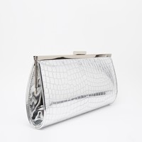 New Look Silver Frame Clutch Bag