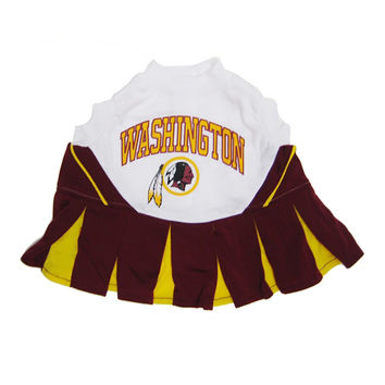 Mirage Pet Products Puppy Dog Cat Costume Washington Redskins Sports Team Logo Cheer Leading Uniform MD