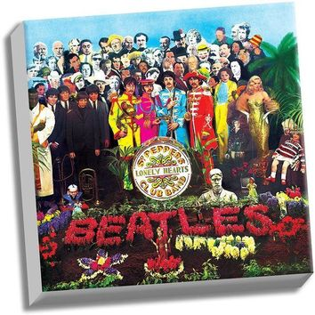 NOVO5 The Beatles Sgt Peppers Lonely Hearts Club Band 20x20 Stretched Canvas