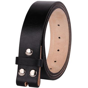 "100% Full Grain Genuine Leather  Belts without Buckle 29""-42"""