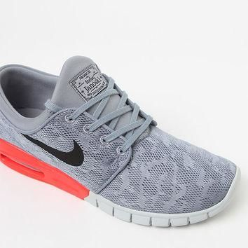 Nike SB Stefan Janoski Max Grey and Red Heel Shoes at PacSun.com