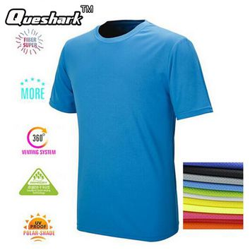 Outdoor Quick Dry T-Shirts Summer Tops Sport Shirt Mens Women Tee Shirt  For Camping Hiking 12 Color Choose S-XXXL