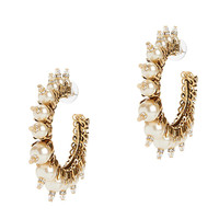 Erickson Beamon My One And Only Pearl Hoop Earrings - INTERMIX®