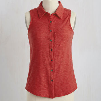 Teachers' Lounging Top in Red | Mod Retro Vintage Short Sleeve Shirts | ModCloth.com