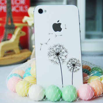 Dandelion-iPhone 5 Decal iphone 6 Stickers iPhone 4s Decals Apple Decal for Macbook Pro / Macbook Air / iPad / iPad2 / New ipad / iPhone 4