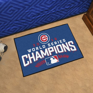 """Chicago Cubs 2016 World Series Champions Starter Rug 19""""x30"""""""