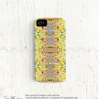 Geometric iPhone 5 case, Geometric iPhone 4 case, iPhone 4s case, 3d print plastic case neon aztec tribal Third eye black spell /c160