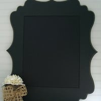Black FRAMED Magnetic CHALKBOARD-Weddings, Chalkboards, Event Planning, Special Events, Kitchen Home Decor, Office Decor, Organization