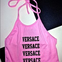 SWEET LORD O'MIGHTY! PINK VERSACE HALTER