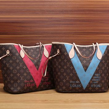 LV Louis Vuitton Women Shopping Bag Leather Tote Satchel Shoulder Bag Handbag Crossbody