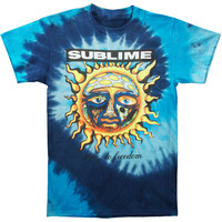 Sublime Men's  40 Oz To Freedom Tie Dye T-shirt Blue