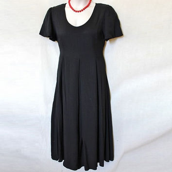 90s Vintage XL Womens Classic Little Black Dress Full length Long SALE