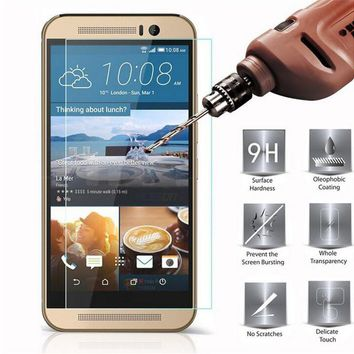 0.27mm Screen Protector Tempered Glass for HTC One M8 M9 plus M10 E8 E9 X9 A9 Desire 826 810 816 Butterfly 3 Protective Film