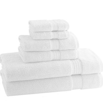 CLASSIC EGYPTIAN TOWELS | Set of 6 | White