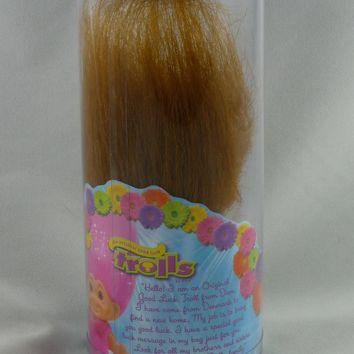 "Good Luck 4"" Troll Doll w/ Good Luck Message - Brown Hair"