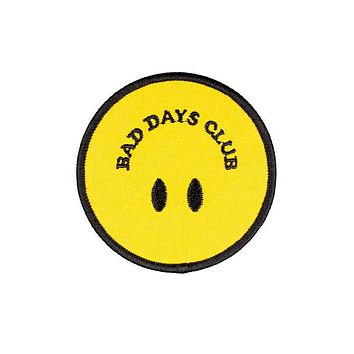 Bad Days Club Smiley Patch