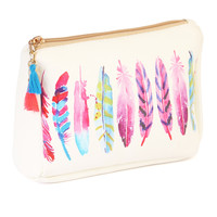 Feather Mix Cosmetic Pouch