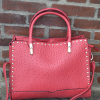 Fashion Handbag by Texas Leather Mfg. {Red} | 500214