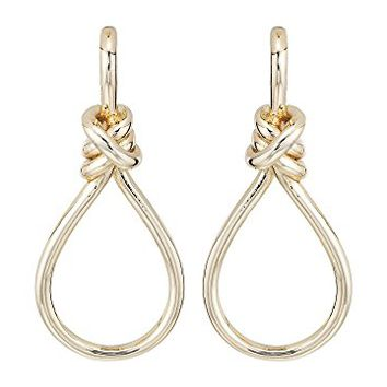 LAUREN Ralph Lauren Classic Metal Knots & Teardrop Statement Earrings