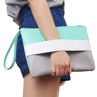 *Online Exclusive* Candy Leather Clutch with Wristlets