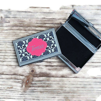 business card holder, bosses gift, personalized card holder, office gift, stainless steel gift, first job gift, monogrammed card holder