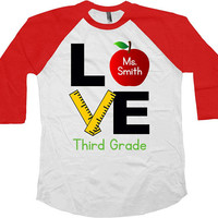 3rd Grade Teacher Shirt School T Shirt Third Grade TShirt Back To School Teacher Appreciation Gift End Of Year Baseball Raglan Tee - SA976