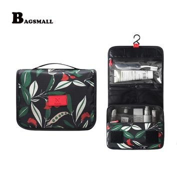 08e3d6fc0863 BAGSMALL Portable Beautician Toiletry Bag Hanging Cosmetic Bag Waterproof Makeup  Organizer Folding Travel Accessories Suitcase