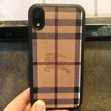 Burberry Fashion New Pladi Women Men Protective Cover Phone Case